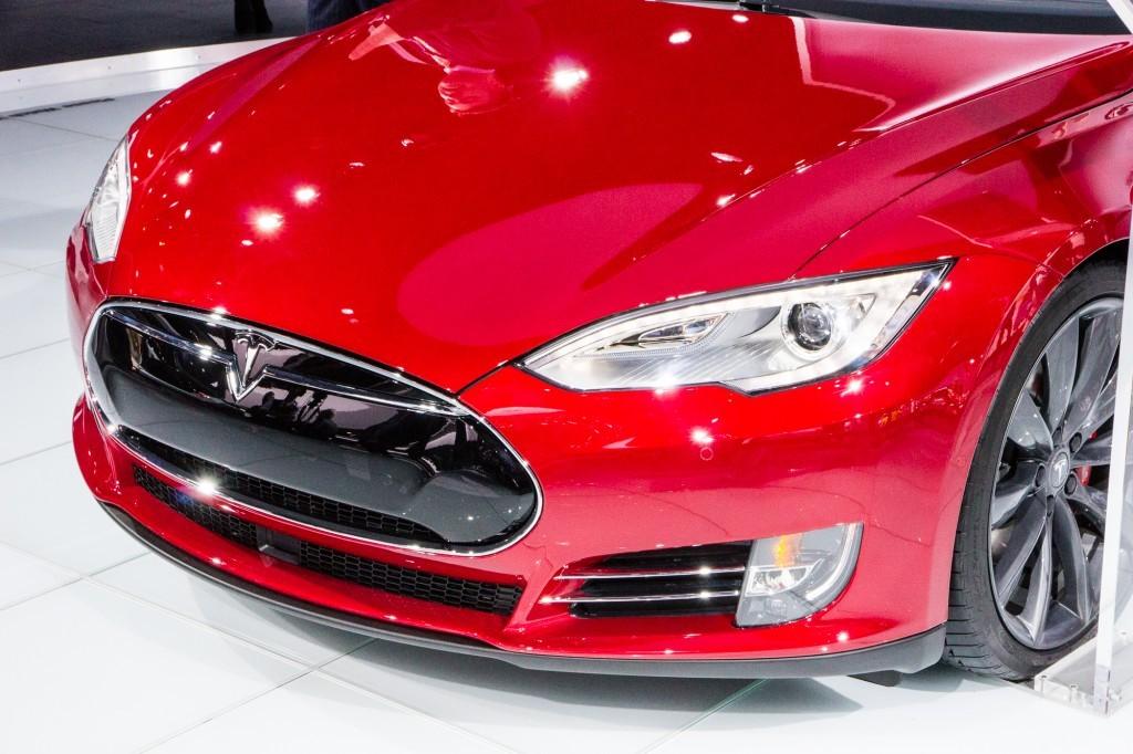 tesla model s p85d 2015 bumper
