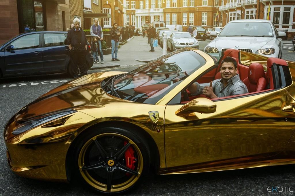 golden hybrid car